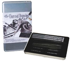 Royal Small Tin Charcoal Drawing Art Set