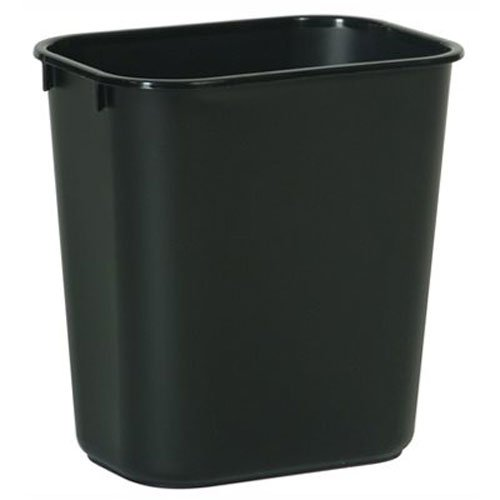Rubbermaid Commercial FG295500BLA Plastic Receptacle Wastebasket, Black (Desk Garbage Can compare prices)