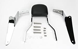 Cobra Square Sissy Bar W/Short Pad 14 IN for Yamaha VStar 950