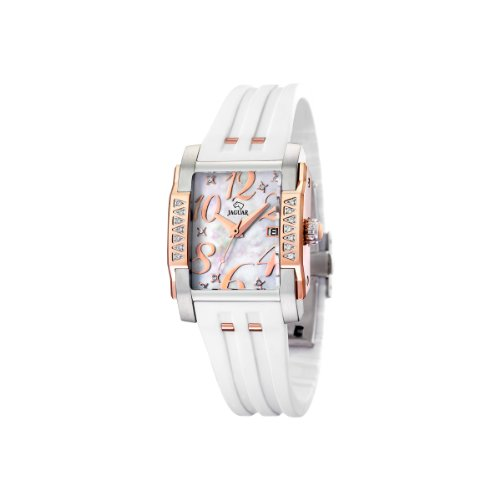 Jaguar 648/1 - Reloj de mujer de cuarzo, correa de caucho color blanco