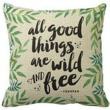 cboutletart-all-good-things-are-wild-and-free-quote-169-cotton-linen-decorative-throw-pillow-case-cu