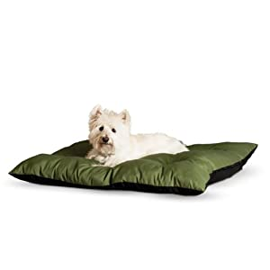 K&H Manufacturing 26 by 29-Inch Thermo-Cushion Pet Bed, Medium, Sage Green