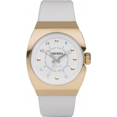 Diesel Ladies White Rose Gold Watch - DZ5256