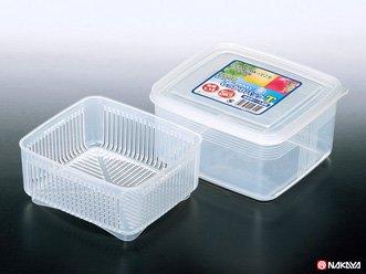 食品の保存に 小物の整理に 日本製 しっかりパック ザル付き (Tサイズ)