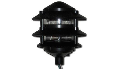 Greenfield Pl3Tbl Weatherproof Electrical, 3 Tier Path Light, Black