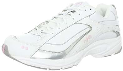 RYKA Women's Sport Walker Advance Shoe,White/Grey/Light Pink,5 M US