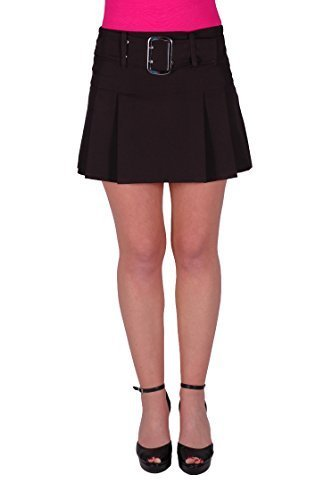 EyeCatchClothing - Carrie Womens Belted Buckle Mini Skirt
