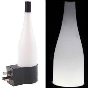 Bottle Shaped Light Sensor Energy Saving Led Wall Lamp Without Switch - Australia Plug (White)