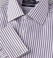 Slim Fit Performance Non-Iron Pure Cotton Sateen Striped Shirt