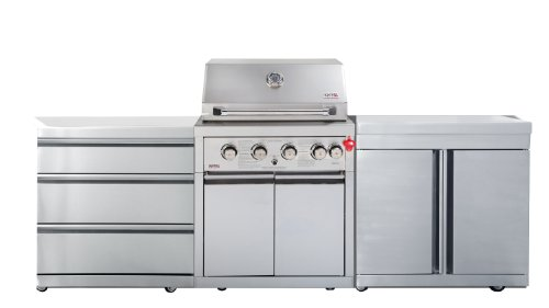 SWISS GRILL Z460DC Zurich 6-Burner Stainless Steel Grill with Infrared Rear Burner and Rotisserie Kit
