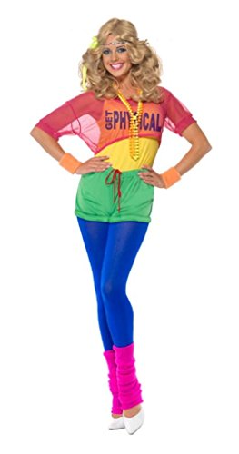 Smiffy's Women's Let's Get Physical Olivia Newton-John Costume