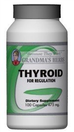 Thyroid - Herbal Thyroid Remedy For Thyroid Regulation - 100 Capsules