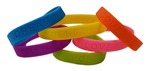 Dazzling Toys Inspirational Sayings Bracelets(Assorted Colors) 2 DOZEN