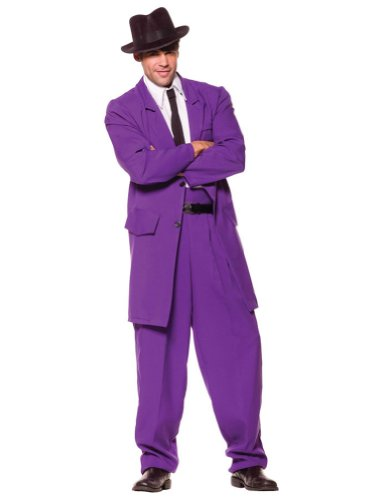 Zoot Suit Adult Costume Purple Standard Adult Mens Costume