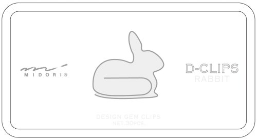 Midori ディークリップス rabbit pattern
