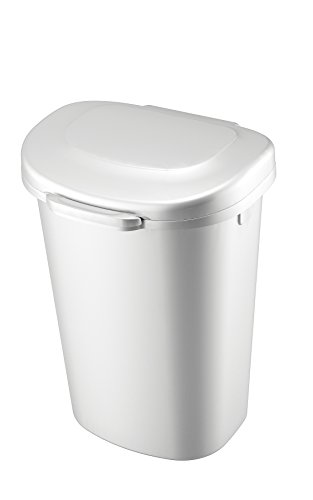 Rubbermaid 1843025 Touch-Top Wastebasket, 13-Gallon, White (Tall Kitchen Trash Can With Lid compare prices)