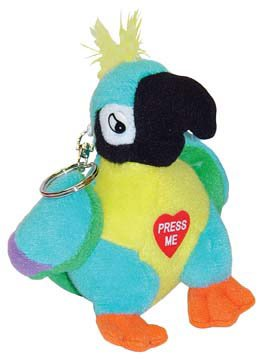 Polly The Insulting Parrot Keychain