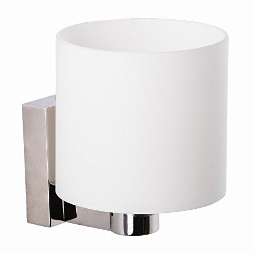 Applique style moderne, armature en métal couleur chrome, plafonnier en verre blanc 1 ampoule incl. halogène G9 1x20W 230V