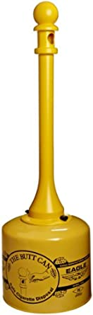 Eagle 1205 Galvanized Steel Poly Tube Cigarette Butt Receptacle, 5 Gallon Capacity