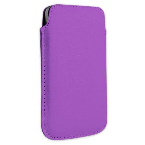 Lila Kunstleder Handytasche Smartphone für AURO Classic 8510, Comfort 1010, 1020 und 1060