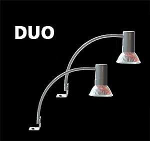 DUO Aluminium Spiegelleuchte inkl. Leuchtmitteln