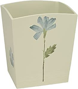 Croscill Spa Leaf Bath Collection Wastebasket