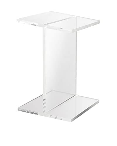 Fox Hill Trading Acrylic I-Beam Accent Table, Clear