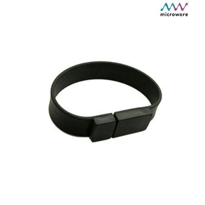Microware Wrist Band ShMicroware 16GB Pen Drive (Black)