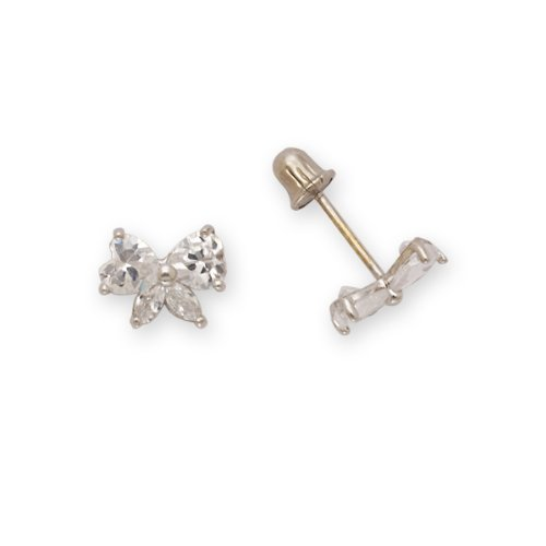 Baby Bow Earrings 14k Yellow Gold