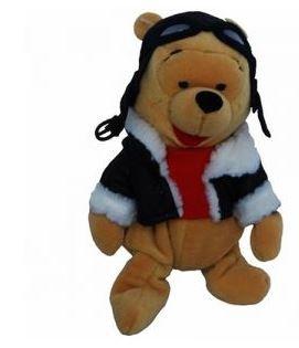 Winnie the Pooh Bean Bag Plush Pilot Pooh - 1