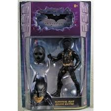 Batman Dark Knight Movie Master Exclusive Deluxe Action Figure Survival Suit Bruce Wayne at Gotham City Store