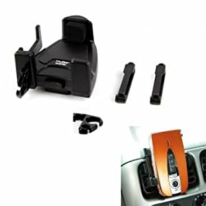 Hypersoni Rotatable Vertical Car Phone Holder Black HP-2583
