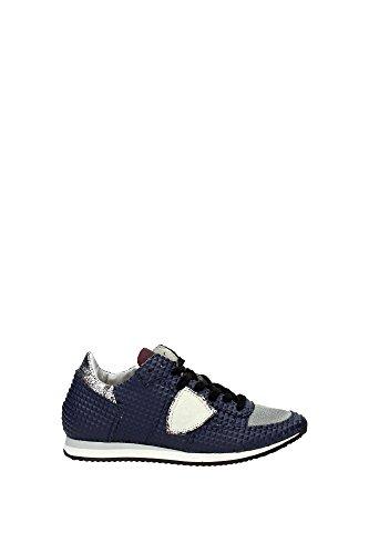 Sneakers Philippe Model Donna Pelle Blu, Argento, Bordeaux e Bianco TRLDPR02 Blu 35EU