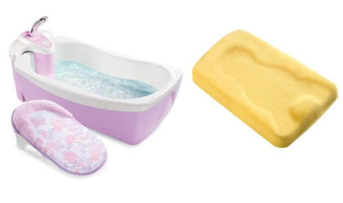 get now summer infant lil 39 luxuries whirlpool bubbling spa shower with bath sponge cradling. Black Bedroom Furniture Sets. Home Design Ideas