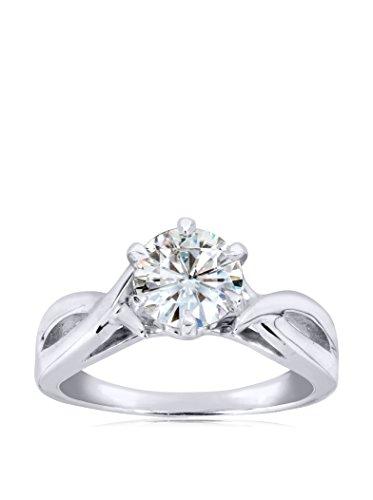 Kobelli 14K White Gold Solitaire Moissanite Engagement Ring