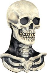 Skull Mask with Skeleton Chest Piece (Paper Skull Mask compare prices)