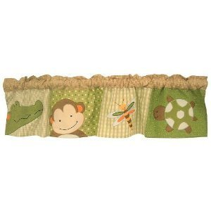 Lambs & Ivy Papagayo Window Valance, Green front-60658