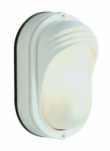 Trans Globe Lighting 4124 RT 8-1/2-Inch 1-Light Outdoor Bulkhead, Rust