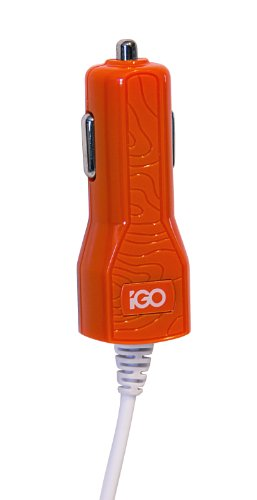 Igo Ps00308-1004 Smartphone Car Charger For Micro Usb Devices - Retail Packaging - Orange/White