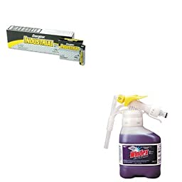 KITDRA3481049EVEEN91 - Value Kit - Windex Super-Concentrated Ammonia-D Glass Cleaner RTD (DRA3481049) and Energizer Industrial Alkaline Batteries (EVEEN91)