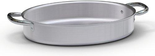 Ballarini 7014.36haute Poêle à poisson ovale, 2poignées en aluminium brut, 36cm