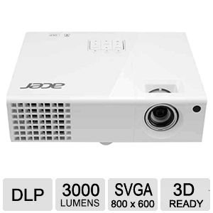 Acer P1173 DLP 3D Projector (White) by Acer