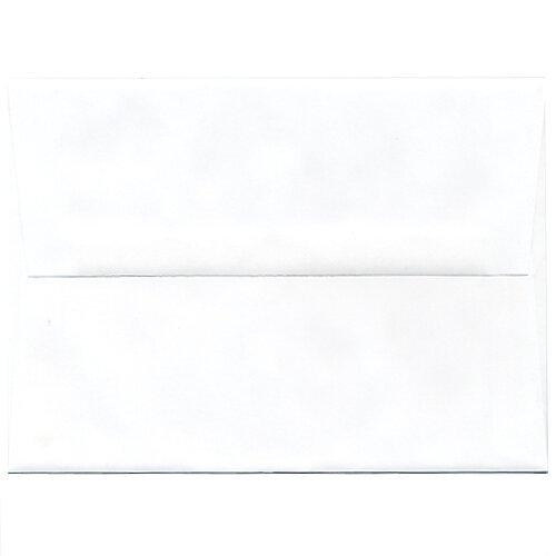 Jam Paper® - 5 1/4 X 7 1/4 (A7) Booklet White Envelope - 250 Envelopes Per Pack front-57129