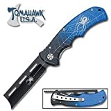 Tomahawk Wicked Blue Razor Folding Pocket Knife