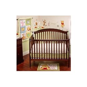 Disney - Pooh Sunny Day 3-piece Crib Bedding Set at Sears.com