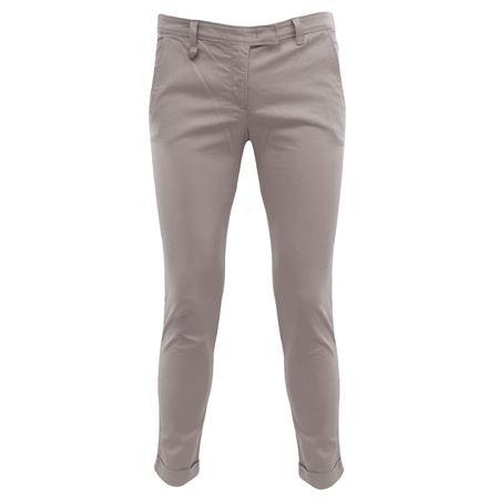 R5P3486 Armani Jeans Pantalone chino Grigio 46 Donna