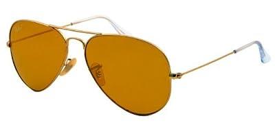 New Ray Ban Aviator RB3025 112/06 Gold/Crystal Polarized Orange 58mm Sunglasses