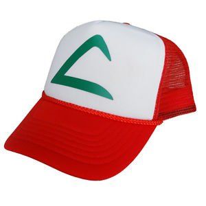 [Pokemon Go Ash Ketchum Mesh Hat pikachu game fun Cap cosplay Halloween costume] (Old Ash Ketchum Costume)