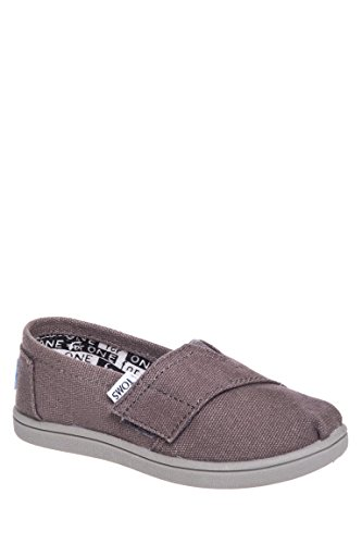 Toms Tiny Classic Canvas Slip-On, Ash, size 5
