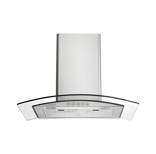 Zuhne Chorus 30 Inch Kitchen Wall Mount Vented/ Ductless Stainless Steel Range Hood Or Stove Vent With Energy Saving Touch Control & Led Lights